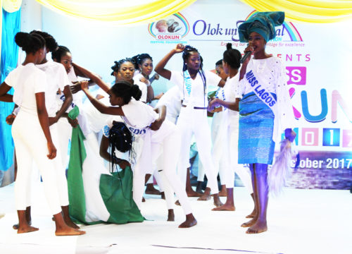 OZZYBEE DAZZLES AT MISS OLOKUN BEAUTY PAGEANT, 2017